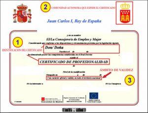 MODELO DE CERTIFICADO DE PROFESIONALIDAD AUTONOMICO
