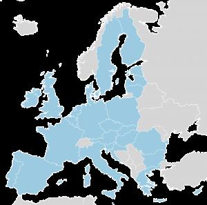 Cambio de hora. Mapa Europa