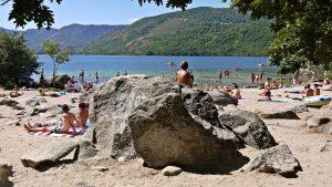 Lago de Sanabria. Bañistas